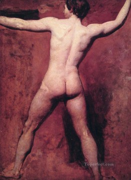 nude naked body Painting - Academic male nude female body William Etty